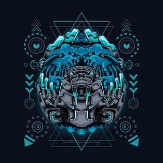 Święta geometria w stylu morsa cyborga