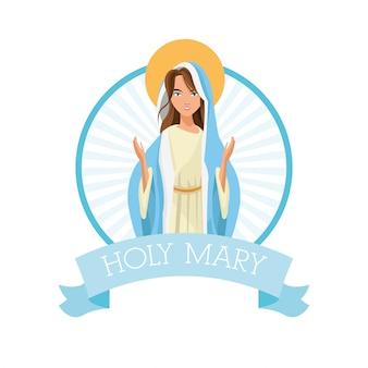 Święta mary kobiety dziewczyny kreskówki religii świątobliwa ikona