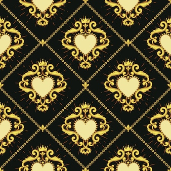 Święte serce i złoty łańcuch