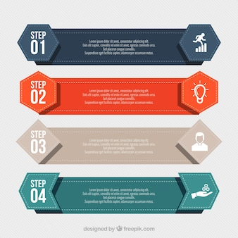 Świetne banery infograficzne o formach geometrycznych