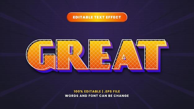 Świetny edytowalny efekt tekstowy w nowoczesnym stylu 3d