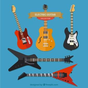 Świetny pakiet płaskich gitar elektrycznych
