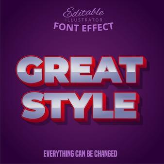 Świetny styl tekstu, edytowalny efekt czcionki