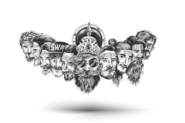 Święto dasera - rawana z dziesięcioma głowami dla dasera