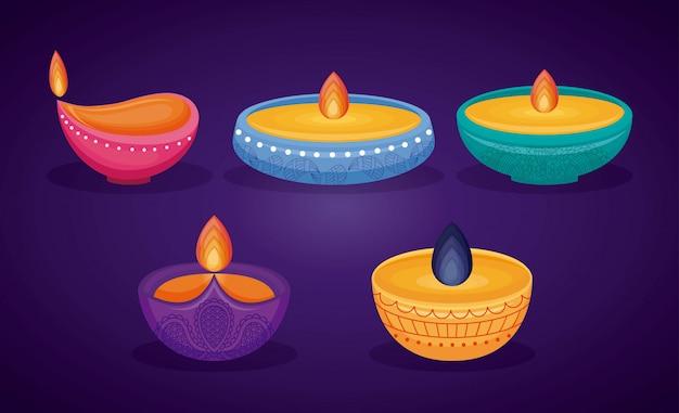 Święto diwali świec