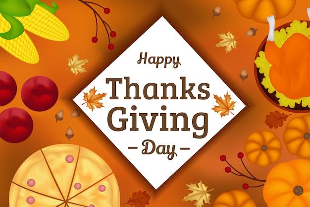 Święto dziękczynienia tło powitanie żywności element jesienny