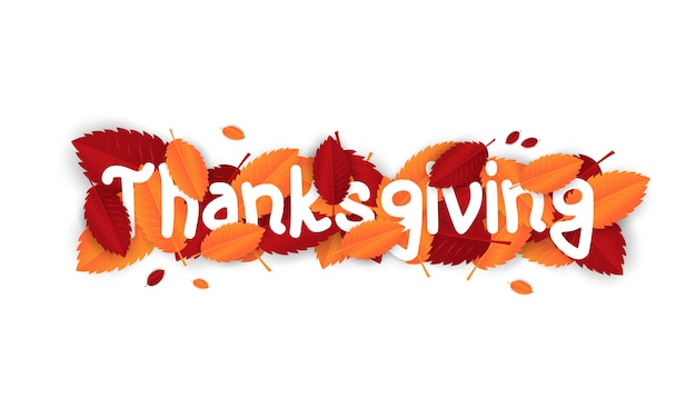 Święto dziękczynienia tło z liśćmi na zakupy sprzedaż lub promo plakat i ramka ulotki.