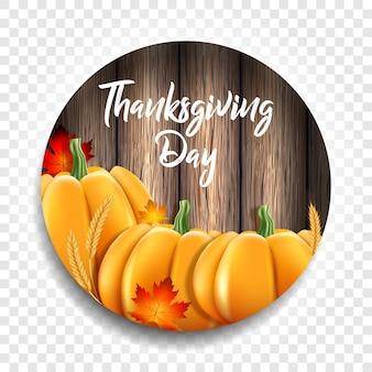 Święto dziękczynienia. żółte liście, kłosy pszenicy i dynie
