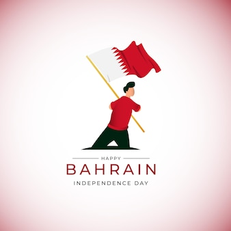 Święto narodowe bahrajnu bahrajn macha flagą szablon projektu transparent