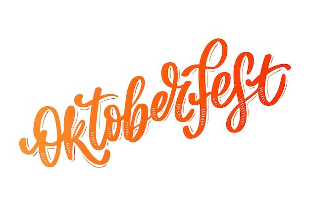 Święto oktoberfest. szczęśliwy typografia niemiecki napis oktoberfest. festiwal piwa