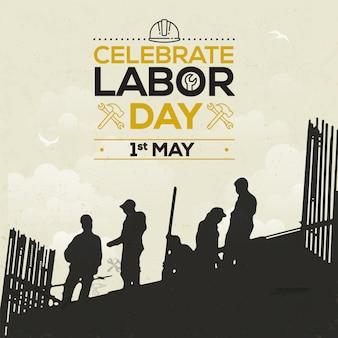 Święto pracy lub dzień międzynarodowy świętują