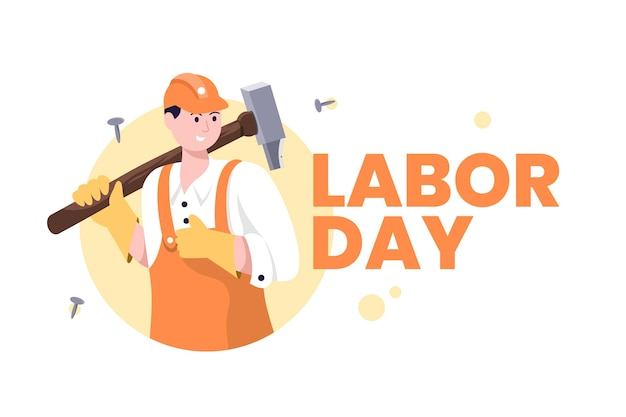 Święto pracy z robotnikiem