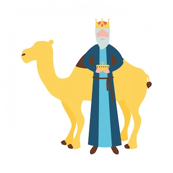 Święto trzech króli, mądry król z darem i wielbłądem