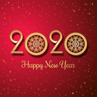Świętowanie nowego roku 2020 kolorowe kreatywne