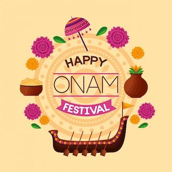 Świętowanie szczęśliwego festiwalu onam