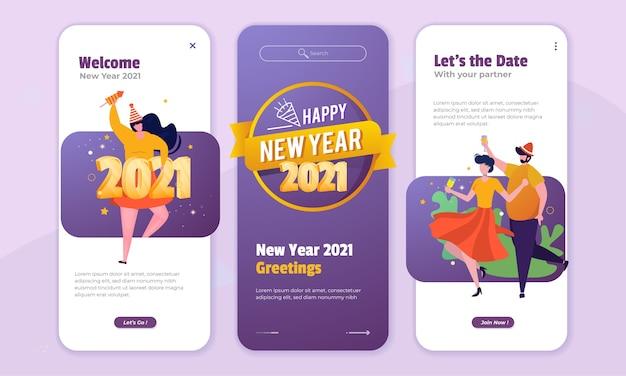 Świętuj nowy rok ilustracji na ekranie pokładowym