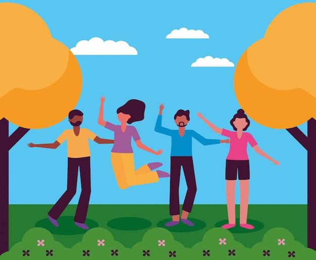 Świętujemy projekt szczęśliwych młodych ludzi