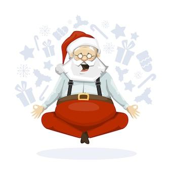 Święty mikołaj medytuje