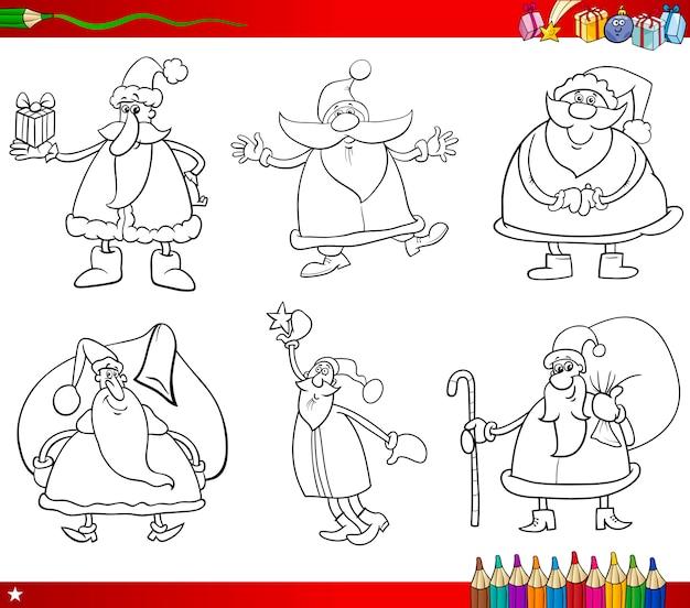 Święty mikołaj na boże narodzenie kolorowanka