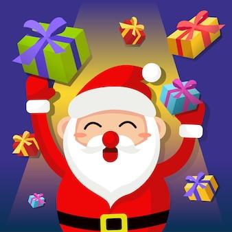 Święty mikołaj z prezentami
