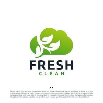 Świeża chmura, czysta, inspiracja do projektowania logo