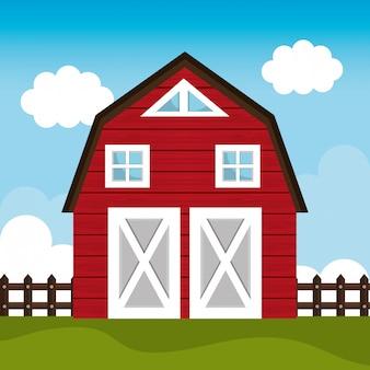 Świeża grafika farmy