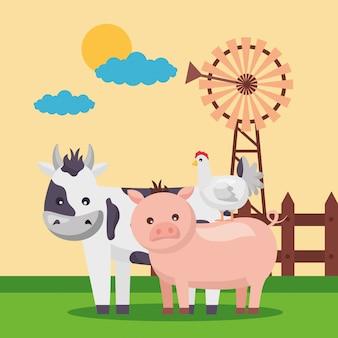 Świeża kreskówka farmy