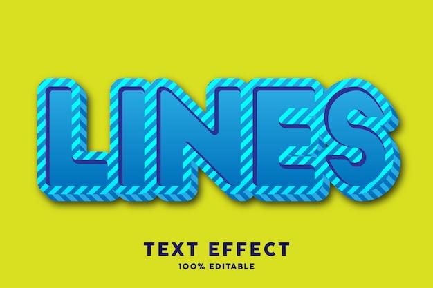 Świeża, odważna niebieska linia z efektem wzoru linii tekstu