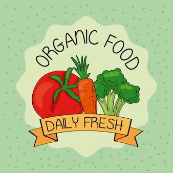 Świeża rama produktów rolnych z warzywami