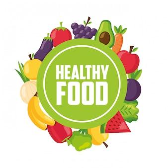 Świeża rama zdrowej żywności