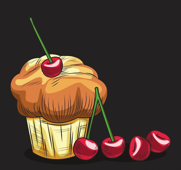Świeże bułeczki muffinowe ze świeżych owoców