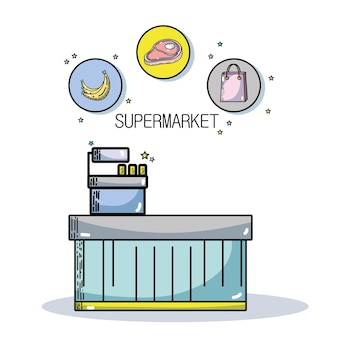 Świeże produkty supermarketów i jedzenie żywienia