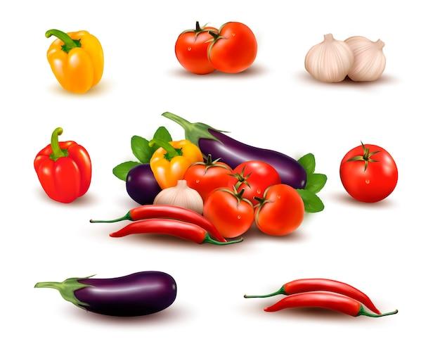 Świeże warzywa z liśćmi. zdrowe odżywianie