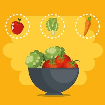 Świeże warzywa zdrowa żywność