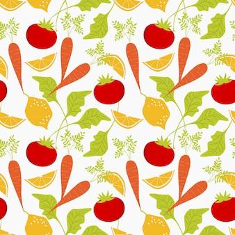 Świeżego warzywa bezszwowy wzór.