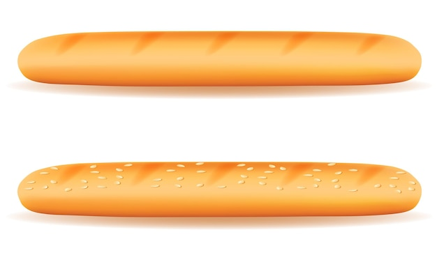 Świeży chleb chrupiący bagietka bochenek bułki na białym