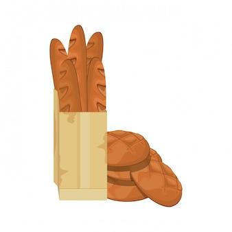 Świeży i pyszny chleb francuski