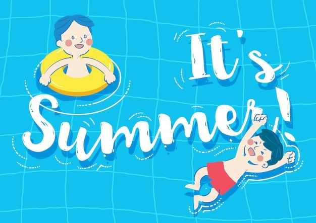 Świeży letni basen
