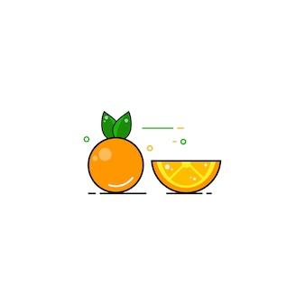 Świeży pomarańczowy kreskowej sztuki wektor