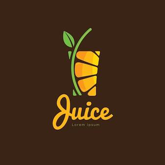 Świeży sok pomarańczowy logo wektor