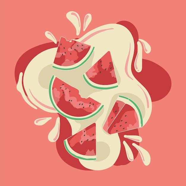 Świeży sok z arbuza z ml