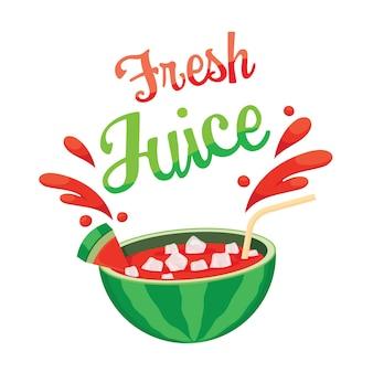Świeży sok z arbuza