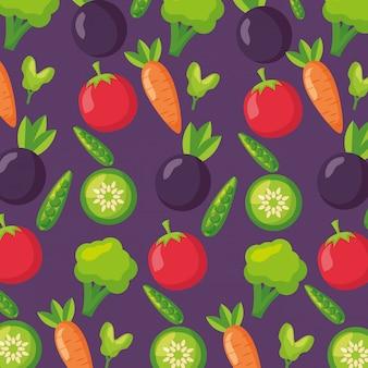 Świeży wzór zdrowej żywności