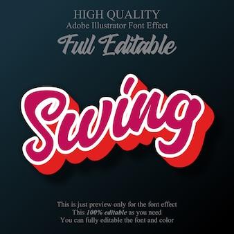 Swing skrypt edytowalny styl tekstu efekt tekstowy