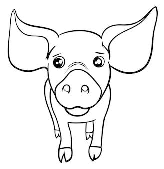 Świnia lub prosiaczek kolorowanki