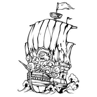 Świnki pirat grill party