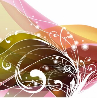 Swirly kwiatowy abstrakcyjne tło grafiki wektorowej
