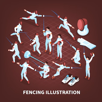 Sword play sports background