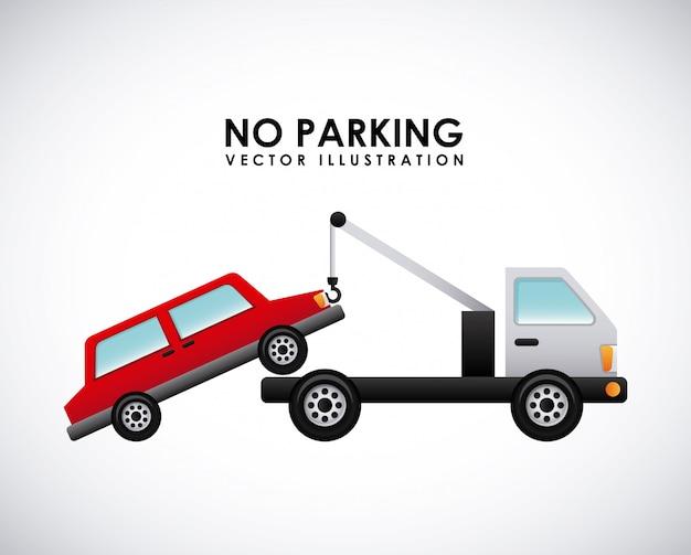 Sygnał parking na szarym tle ilustracji wektorowych
