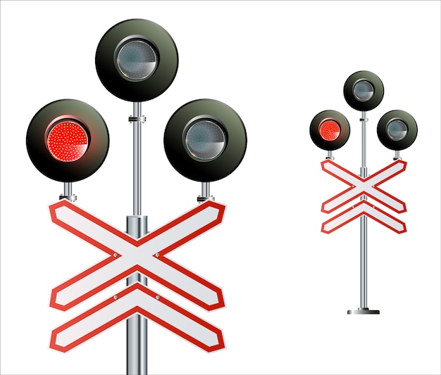Sygnalizacja ruchu semaforowego. światła pociągu.